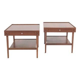 Pair of Kipp Stewart Drexel Rosewood Side Tables For Sale