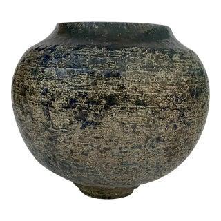 Glazed Ceramic Spherical Vase For Sale