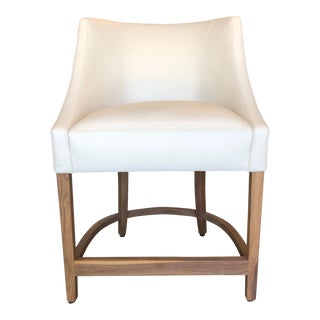 Modern Verellen Melvin Leather Counter Stool For Sale
