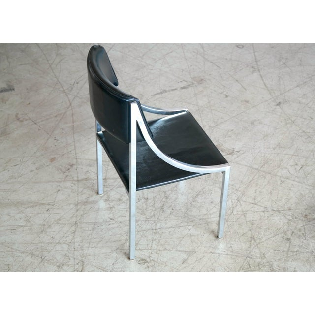 Howell Company Wolfgang Hoffmann Side Chair in Chrome and Vinyl for Howell Company For Sale - Image 4 of 10