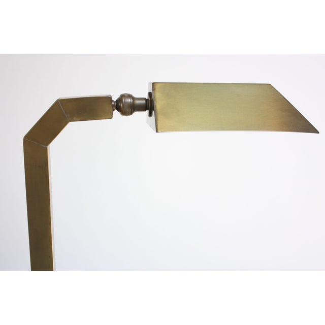 Pair of 1970s Patinated Brass Chapman Floor Lamps For Sale - Image 9 of 13