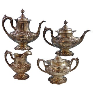 Francis I by Reed & Barton Eagle R Lion Mark Sterling 4-Piece Tea Set For Sale