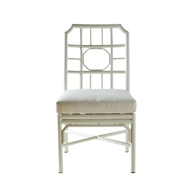 Pair of Regeant White 4 Season Side Chairs With Cushions - Image 3 of 3