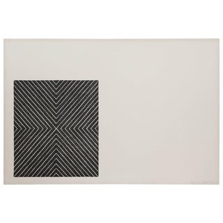 """Frank Stella 1967 Lithograph """"Black Series Ii"""" Signed Numbered 6?/100 For Sale"""