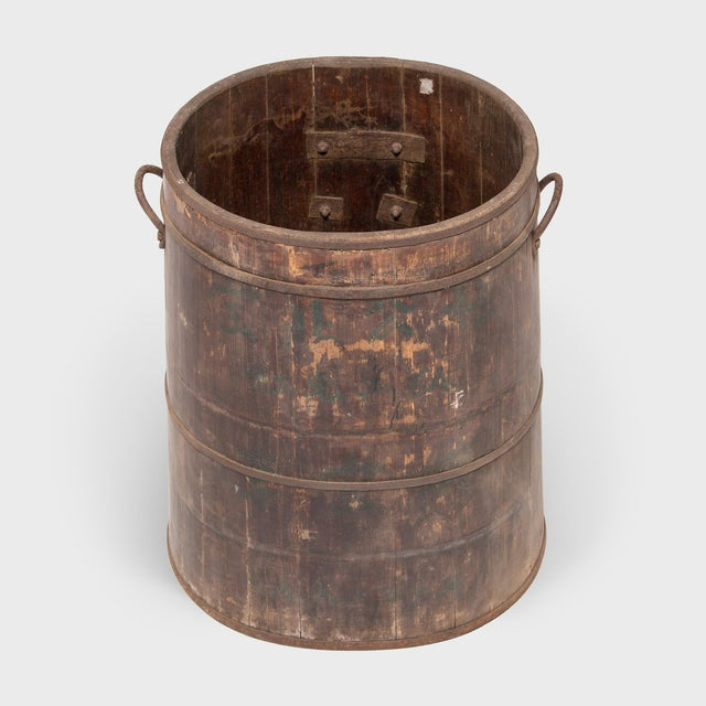 1960s Provincial Chinese Water Barrel For Sale - Image 5 of 8