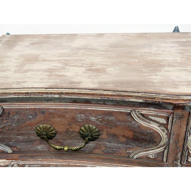 Mid 20th Century Auffray Country French Distressed Painted Dresser For Sale - Image 5 of 12