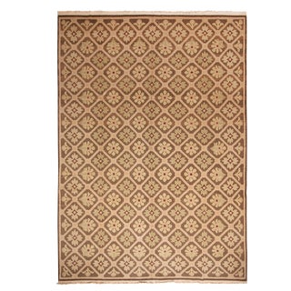 """1950s Vintage Mid-Century French Country Rug-8'11'x12'7"""" For Sale"""
