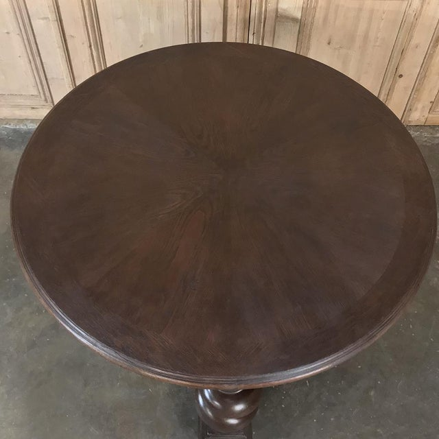 Late 19th Century 19th Century German Barley Twist Center Table For Sale - Image 5 of 12