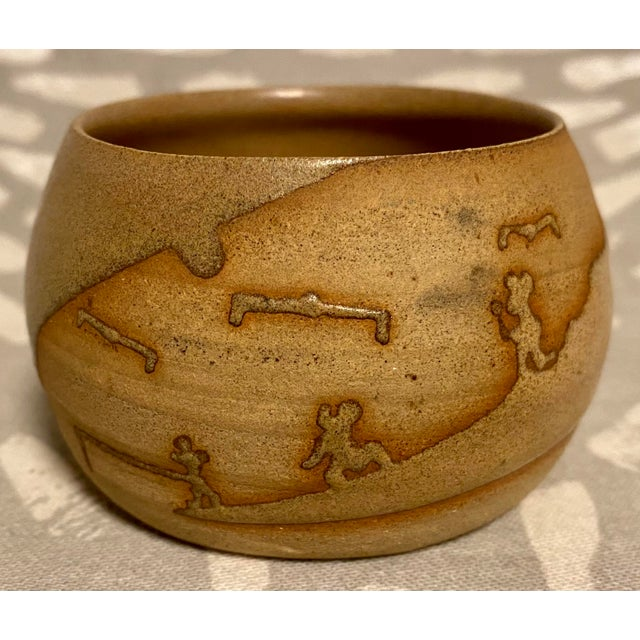 Brown Vintage Hand Crafted Novelty Studio Pottery Miniature Pot For Sale - Image 8 of 8