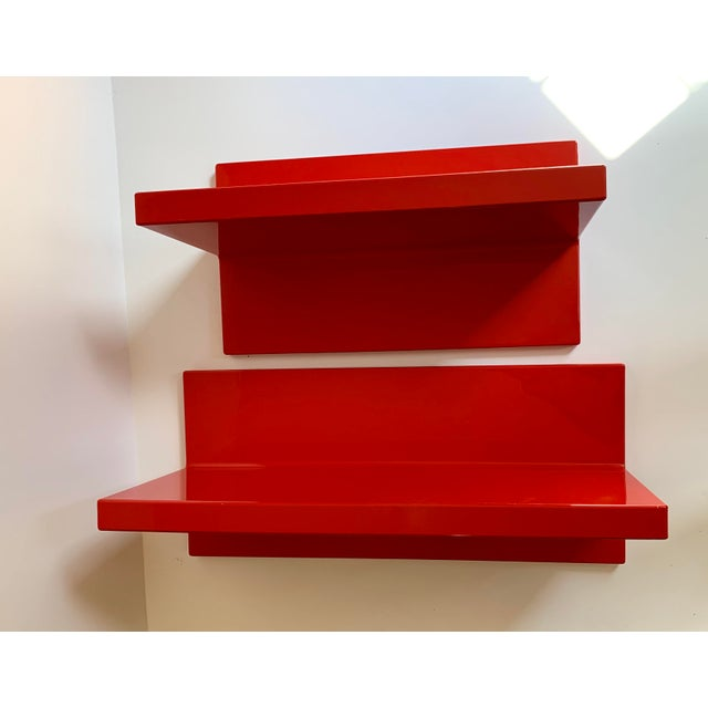 Vintage Kartell Plastic Shelves-a Pair For Sale - Image 12 of 12