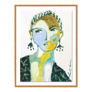 Mirella by Leslie Weaver in Gold Framed Paper, Small Art Print For Sale