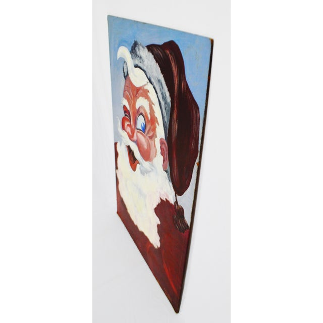 1953 Vintage Signed Santa Claus Painting - Image 5 of 10