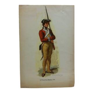 """1956 """"1st Pennsylvania Battalion 1775"""" Original Color Print For Sale"""