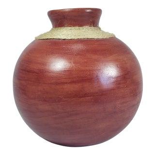 1990s Ruben Gutierrez Rustic Earthenware Vase For Sale