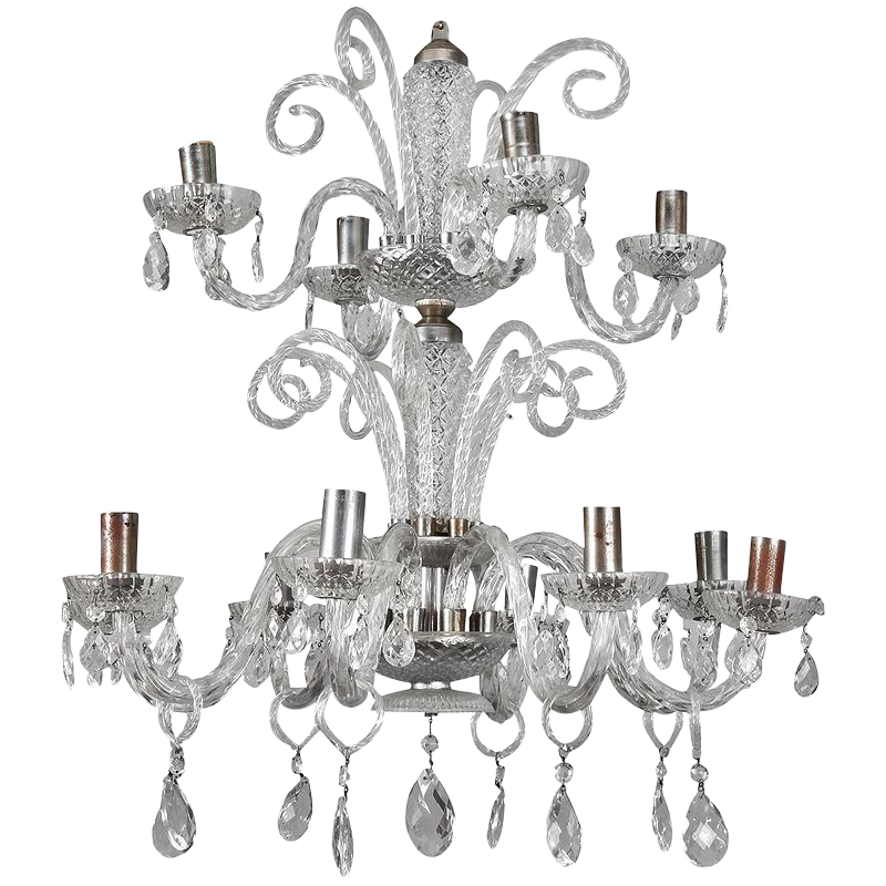 vintage used blown glass chandeliers for sale chairish Greystone Mansion Murders italian twelve light handblown murano glass 2 tier chandelier