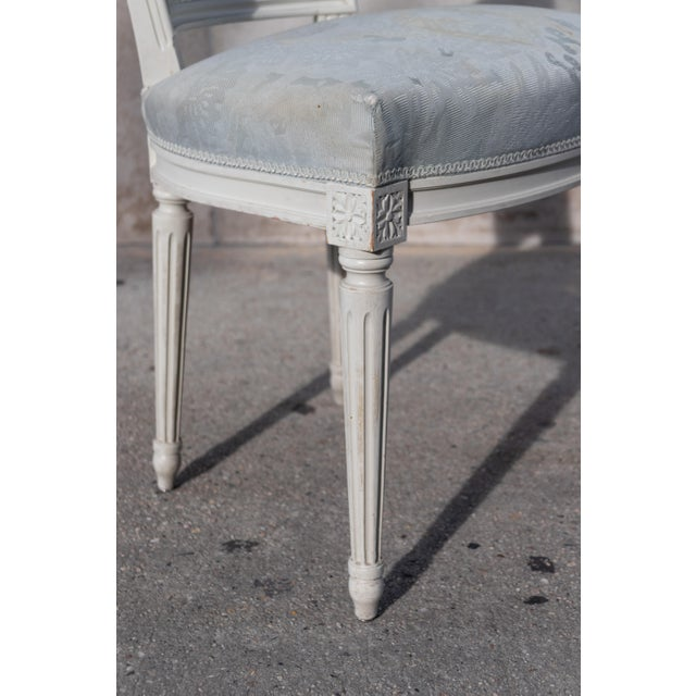 Wood 1910s Vintage French Louis XVI Side Chairs - Set of 4 For Sale - Image 7 of 12