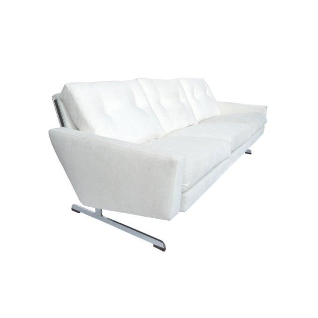 White Danish Modern Sofa by Johannes Andersen - Image 3 of 10