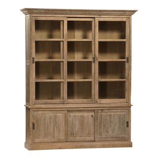 Sliding Door Oak Cabinet For Sale
