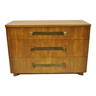 John Stuart Mid Century Modern Art Deco Birch Dresser For Sale