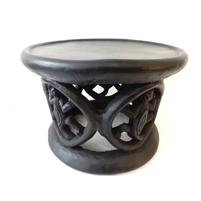 African Bamileke Crocodile Stool - Image 1 of 8