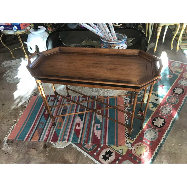 Tomlinson Walnut Mid-Century Tray Table - Image 2 of 9