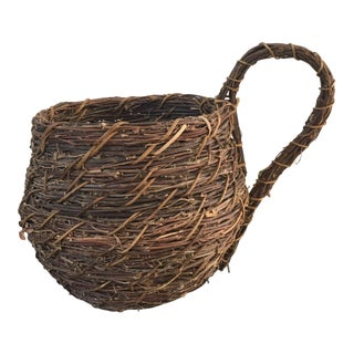 Charming Vintage Basket With Handle For Sale