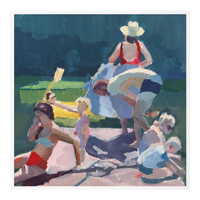 Dock Wip by Caitlin Winner in White Frame, Medium Art Print For Sale