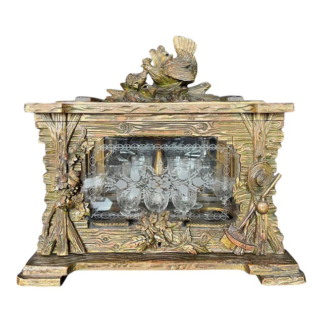 19th Century Black Forest Tantalus Bar For Sale