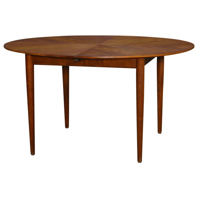 Baker Mid-Century Walnut Dining Table - Image 1 of 8