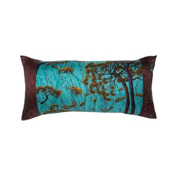 "Contemporary ""Sieste Au Paradis"" Hermès Silk Scarf Pillow For Sale - Image 3 of 3"