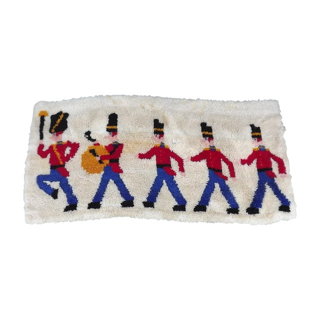 Mid Century Toy Soldier Hooked Rug - 2′1″ × 4′4″ - Image 1 of 5
