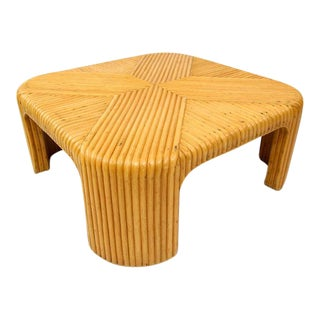 Circa 1970's Split Bamboo Waterfall Coffee Table