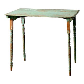 Antique Painted Wood Side Table For Sale