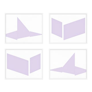 "XL ""Compositions in Lavender, Set of 4"" Print by Jason Trotter, 60"" X 48"" For Sale"