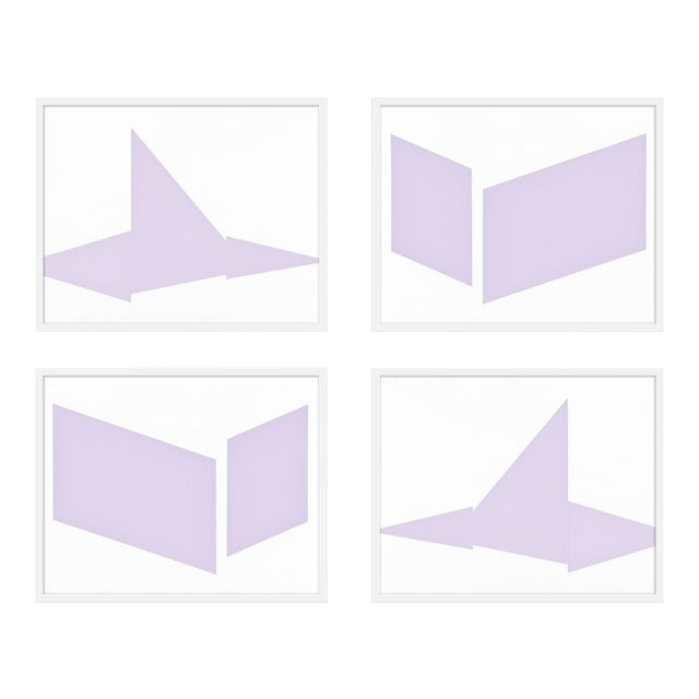 """XL """"Compositions in Lavender, Set of 4"""" Print by Jason Trotter, 60"""" X 48"""" For Sale"""