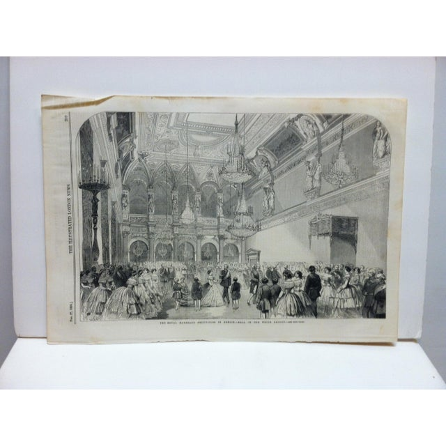 """Mid 19th Century Mid 19th Century Antique """"The Royal Marriage Festivities in Berlin"""" Print For Sale - Image 5 of 5"""