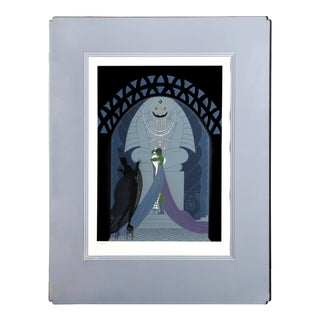"""Erté, """"Lovers and Idol"""", Art Deco Screenprint For Sale"""