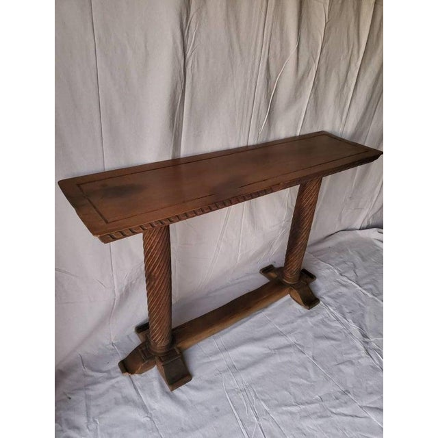Brown Early 20th Century Spanish Baroque Old World Console Table For Sale - Image 8 of 11