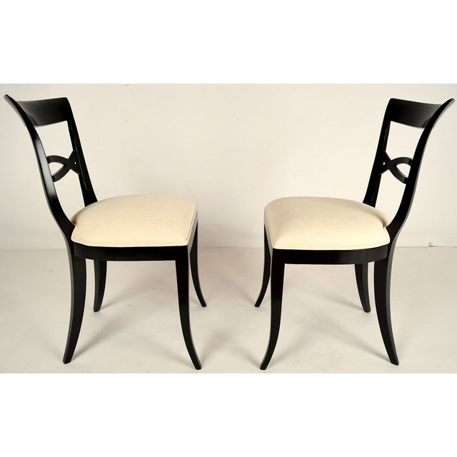 Regency-Style Dining Chairs - Set of 6 - Image 4 of 9
