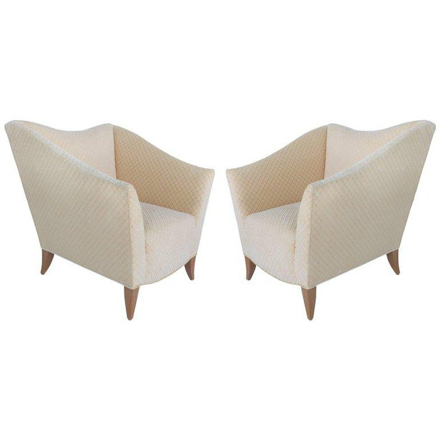 Sculptural Upholstered Club Chairs, Pair For Sale - Image 11 of 11
