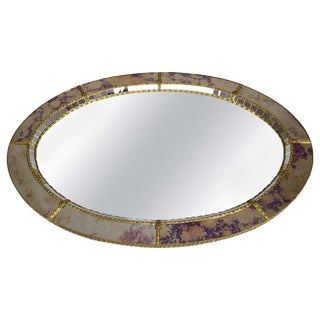 20th Century Italian Vintage Art Deco Wall Mirror, 1930s For Sale