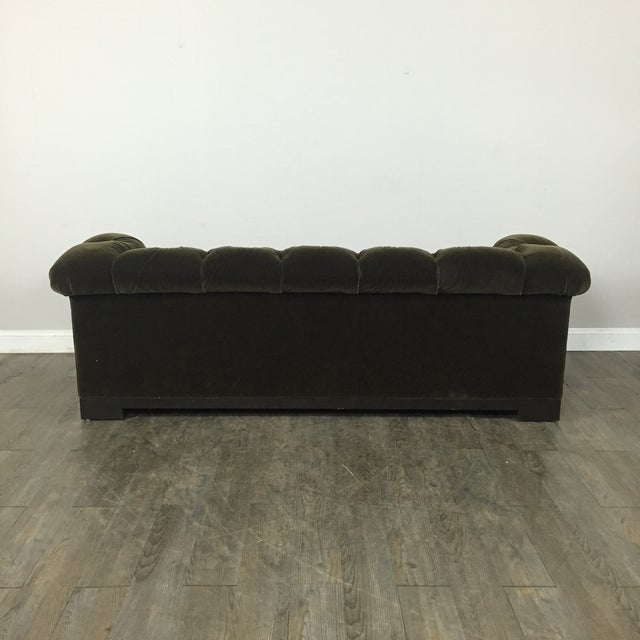 Tufted Green Mohair Sofa - Image 11 of 11