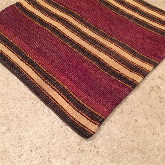 Vintage Striped Kilim Pillow Case - Image 3 of 5