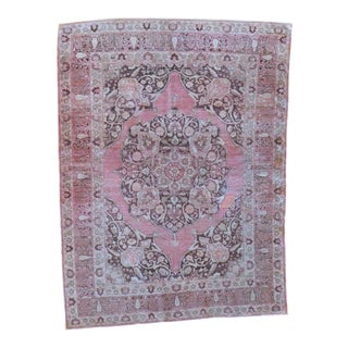 Antique Persian Tabriz Hajijalili Rug - 4′ × 5′3″