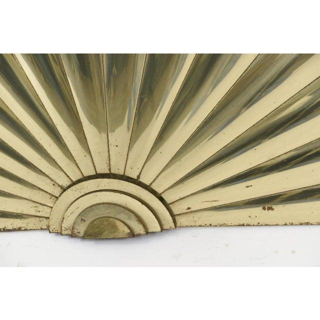 Curtis Jere Brass Fan Wall Sculpture | Chairish