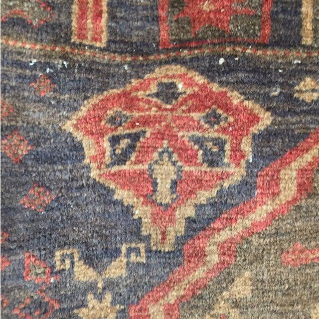 "Vintage Handmade Persian Rug - 2'11"" x 5'2"" - Image 8 of 11"