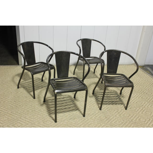 1960s Vintage Metal Dining Chairs- Set of 4 For Sale In Los Angeles - Image 6 of 6