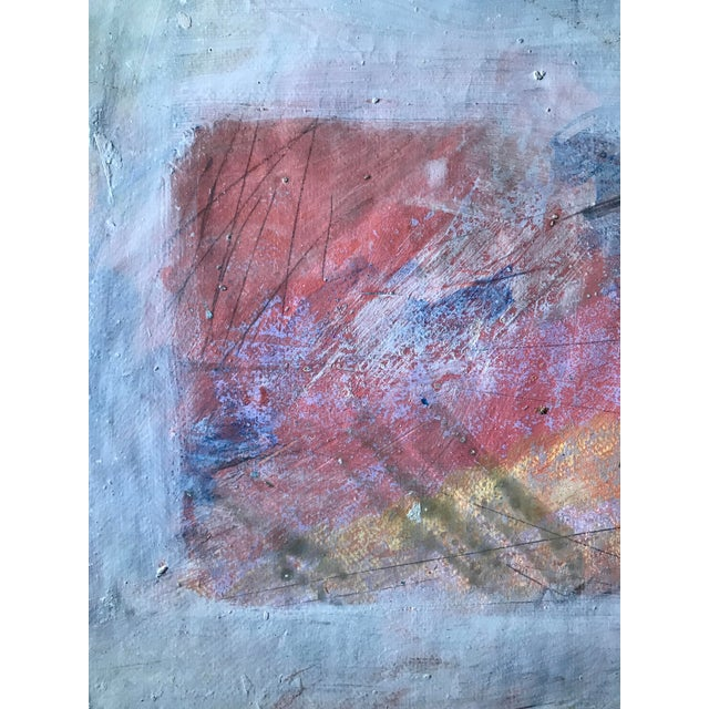 1980s Abstract Bay Area Artist Pink and Purple Fade For Sale - Image 4 of 6