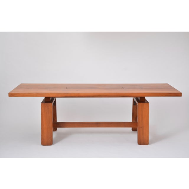 Brown Large Dining Table in Walnut Veneer by Silvio Coppola, Bernini, Italy, 1964 For Sale - Image 8 of 12