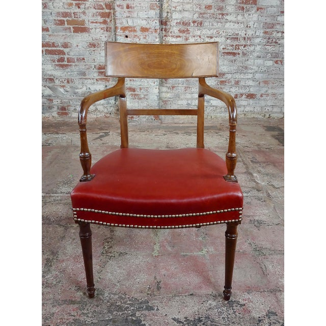 19th Century 1820s Vintage George IV Mahogany Arm Chairs-Set of 4 For Sale - Image 5 of 10